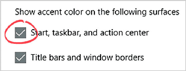 Windows 10 Change Taskbar Color