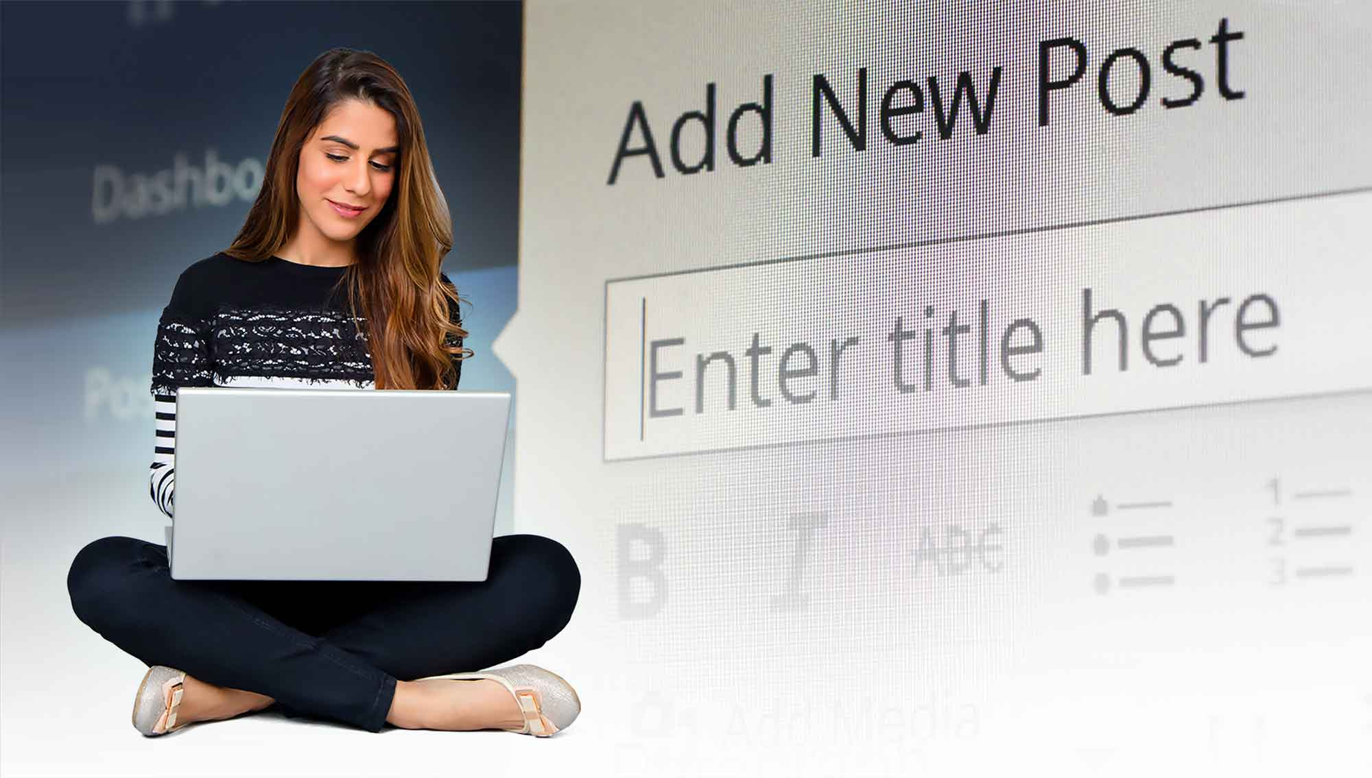 Woman Blogging in WordPress