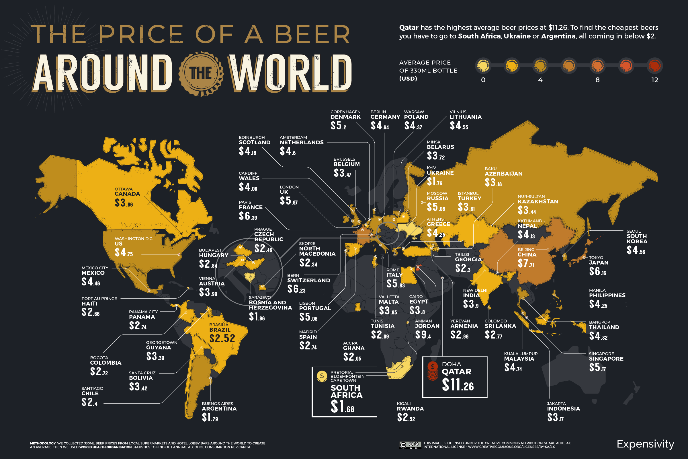 Mapping The Price Of Beer In Every Country (2021)