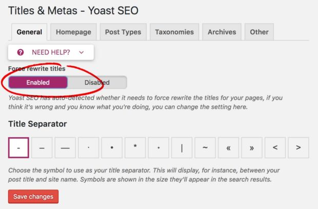 Yoast: Force Rewrite Titles