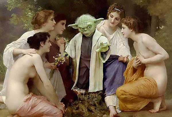 Yoda'S Admiration - Star Wars Art