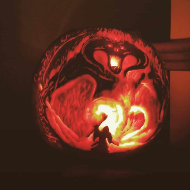 You Shall Not Pass - Lord of The Rings Pumpkin